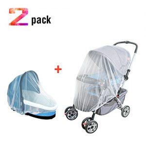 39893eb873 TimberRain Universal Insektenschutz/Mückennetz für Kinderwagen(2 Stück),  Babyschale, Reisebett, Buggy, Schutz vor Wespen und Stechmücken, Hohe  Qualität, ...