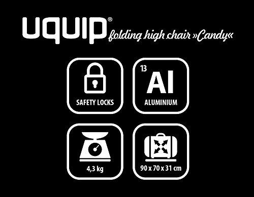 30 kg Traglast Uquip Hochstuhl Candy mit abnehmbarem Sicherheitsgurt