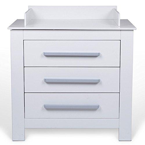 wickelkommode mit drei schubladen und sicherheitsrand. Black Bedroom Furniture Sets. Home Design Ideas