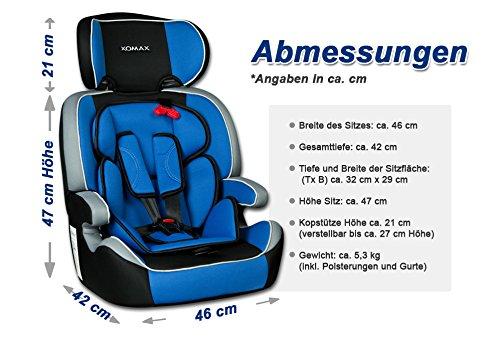 xomax xm k4 blue kindersitz 9 36 kg gruppe i ii iii. Black Bedroom Furniture Sets. Home Design Ideas