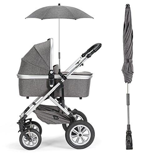 universal sonnenschirm sonnenschutz f r kinderwagen buggy uv schutz 50 73 cm durchmesser. Black Bedroom Furniture Sets. Home Design Ideas