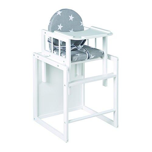 roba kombi hochstuhl hochstuhl mit essbrett wandelbar zu tisch stuhl kinderhochstuhl holz. Black Bedroom Furniture Sets. Home Design Ideas